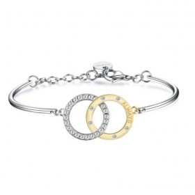 Woman INFINITO bracelet Bangle and gold pvd with swarovski BROSWAY BRJ35
