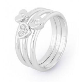 Anelli donna in argento zirconi bianchi e cuori BROSWAY G9MY02D