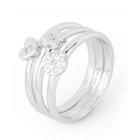 Anelli donna in argento zirconi bianchi e centrali fissi BROSWAY G9MY03D