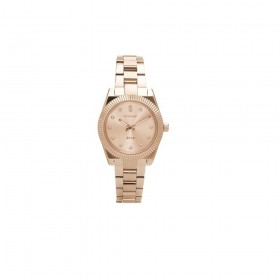 Woman's watch in rose gold pvd and steel with zircons BROSWAY WDC08