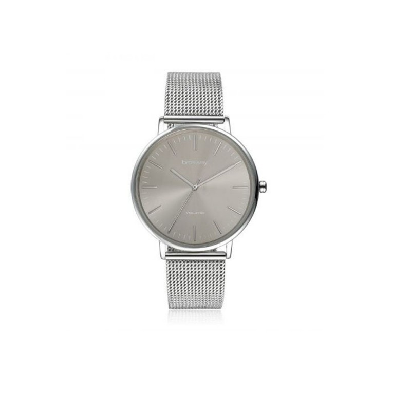 Mens watch in steel and gray dial BROSWAY WVO08