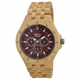 GREENTIME ZW039C man only time wooden clock