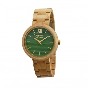 GREENTIME ZW083D man only time wooden clock