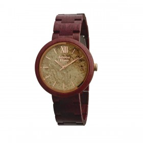 GREENTIME ZW083E man only time wooden clock