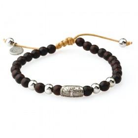 GREENTIME ZWB215A men's wooden bracelet