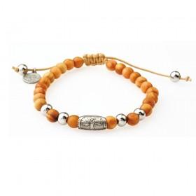GREENTIME ZWB215B men's wooden bracelet