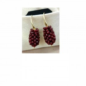 Women's dangle earrings in gold-plated silver and MARAKO 'OR150 stone