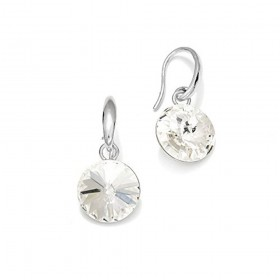 Woman silver earrings with Swarovski crystals SPARK KW112212C