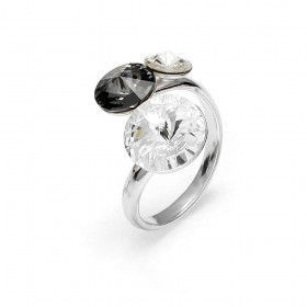 Woman ring in silver and Swarovski crystals SPARK P11223CSN