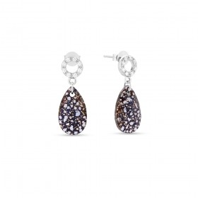 Silver pendant woman earrings with Swarovski crystals SPARK KCK610616BP