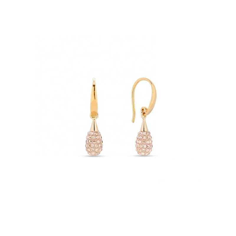 Woman silver earrings with Swarovski crystals SPARK KWPAVED1GS