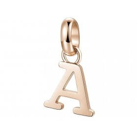 Très-Jolie woman Letter A pendant in steel and pink pvd BROSWAY BTJM220