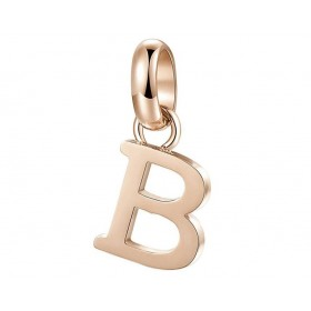 Très-Jolie woman letter B pendant in steel and pink pvd BROSWAY BTJM221