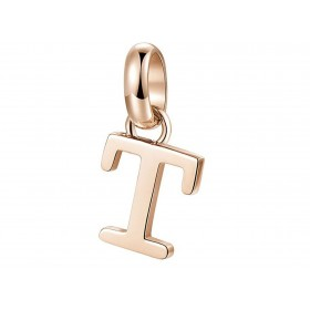 Très-Jolie women's pendant T Letter in steel and pink pvd BROSWAY BTJM239