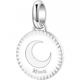 Woman pendant in steel with MOON engraving by BROSWAY BTJM179