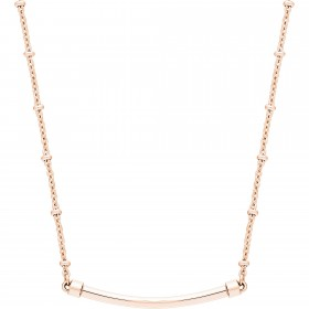 Tres Jolie woman necklace in steel and pink gold pvd by BROSWAY BCT29