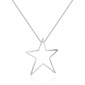 SUBLIME woman necklace in rhodium plated brass and central star of BROSWAY BSB01