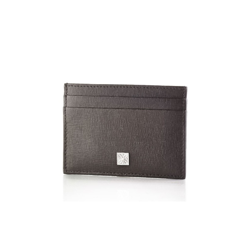 Porta carte di credito GERBA in pelle marrone GB005-BROWN