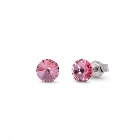 CANDY STUDS SMALL woman lobe earrings in silver and crystals of SPARK K1122SS29LR