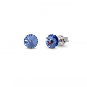 CANDY STUDS SMALL woman lobe earrings in silver and crystals of SPARK K1122SS29LS