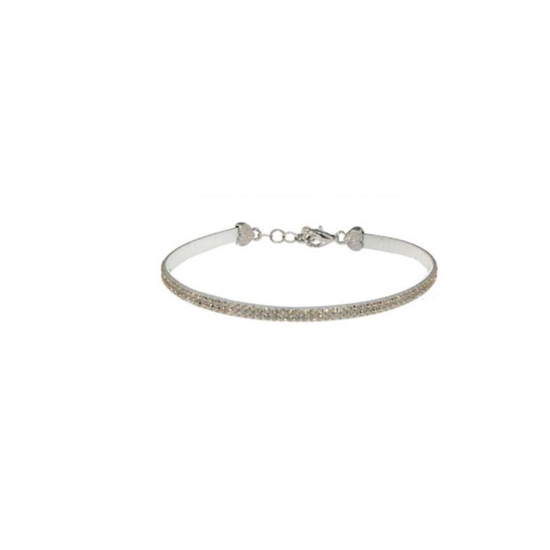 MISS MISS woman bracelet in silver and champagne swarovski crystals 2152.06