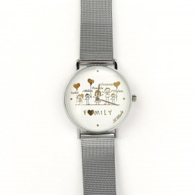 LE CHICCHE customizable clock in steel and silver pvd OROLFAMILY