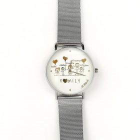 Orologio personalizzabile LE CHICCHE in acciaio e pvd argento OROLFAMILY