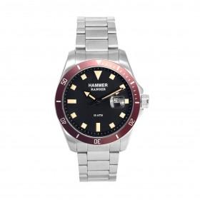 HAMMER RANGER men's wristwatch in silver steel H3E39G-07