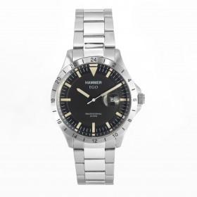 HAMMER EGO men's wristwatch in silver steel H3F16G-05