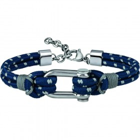 Bracciale uomo BREIL WIRED in corda blu TJ2606