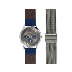 Orologio da polso uomo BREIL TWENTY20 con doppio cinturino in pelle e acciaio TW1736