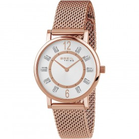 BREIL SKINNY women's wristwatch in pink steel and EW0404 crystals
