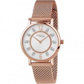 Orologio da polso donna BREIL SKINNY in acciaio rosa e cristalli EW0404