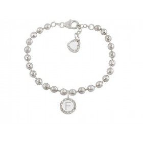 Woman bracelet DVCCIO MY CHARMS with letter F and Z9OFMFM crystals