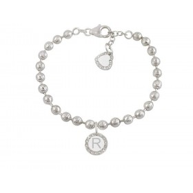 Woman bracelet DVCCIO MY CHARMS with letter R and crystals TQYABFM