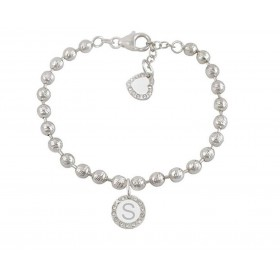Woman bracelet DVCCIO MY CHARMS with letter S and crystals IDUEZFM