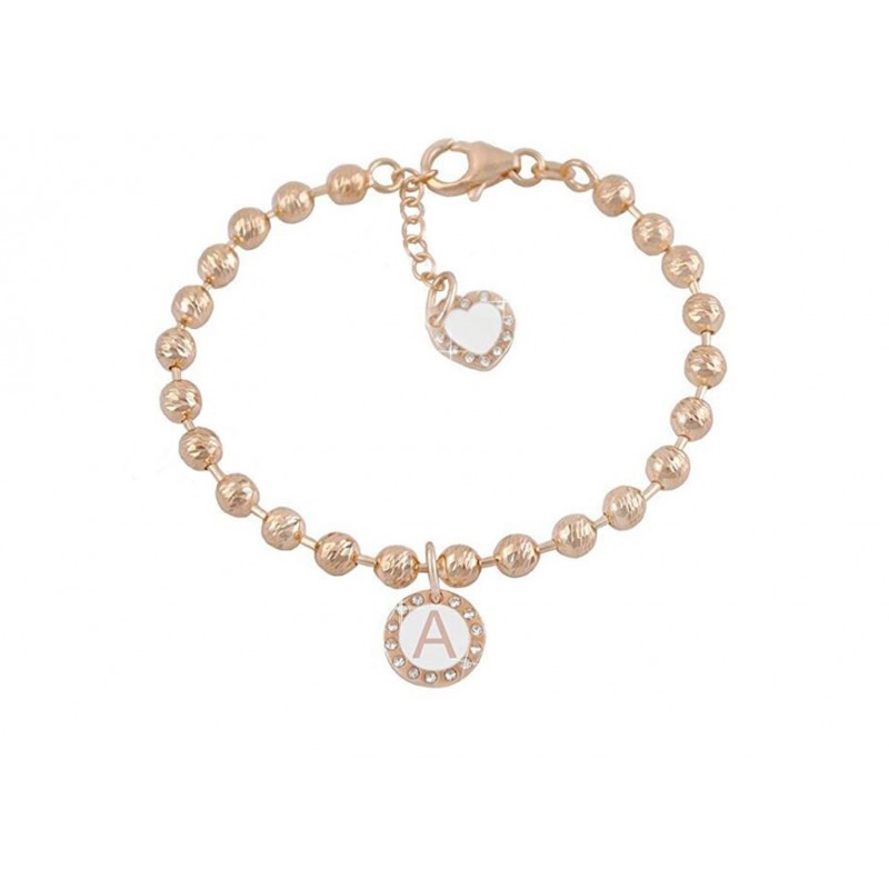Bracelet woman DVCCIO MY CHARMS with letter A and crystals 3GET8FM