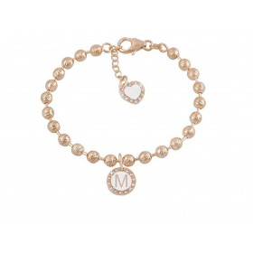 Woman bracelet DVCCIO MY CHARMS with M letter and XFFQJFM crystals