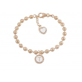 Bracelet woman DVCCIO MY CHARMS with letter T and OEPSUFM crystals