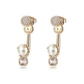 Orecchini pendenti donna BROSWAY AFFINITY in ottone con perla e cristalli BFF75