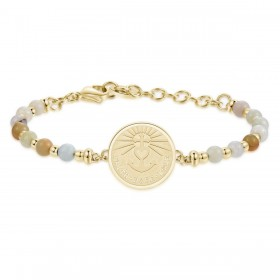 BROSWAY CHAKRA FAITH HOPE LOVE woman bracelet in gold and BHK222 stones