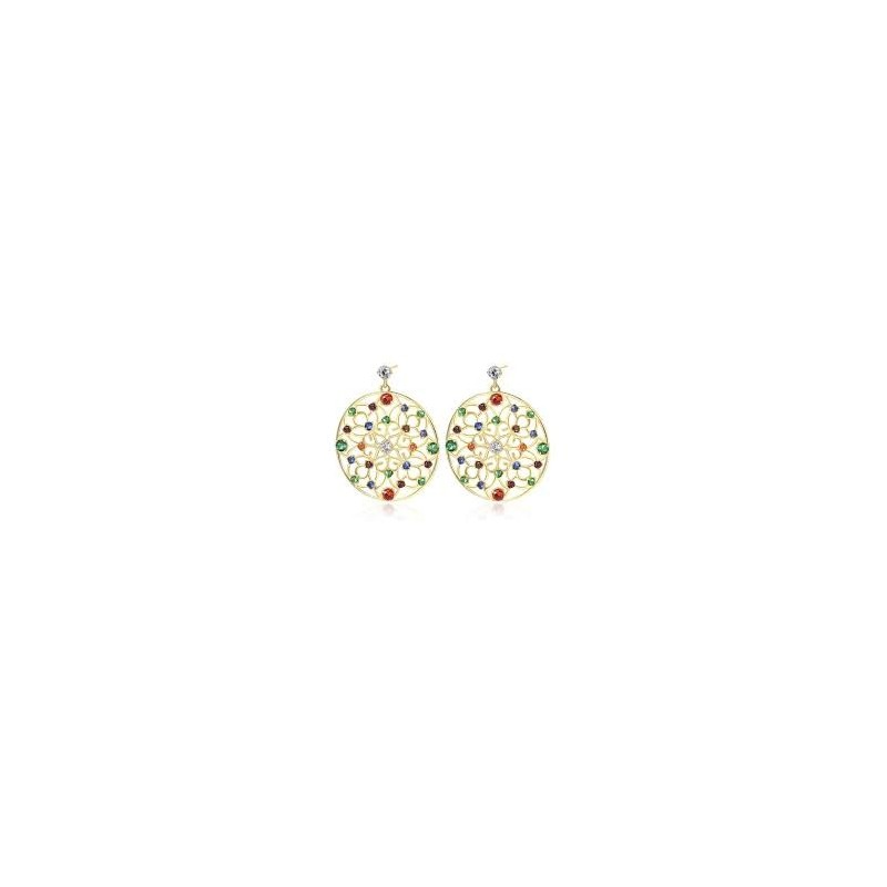 BROSWAY CORINTO woman earrings in gold brass and cubic zirconia BOI22