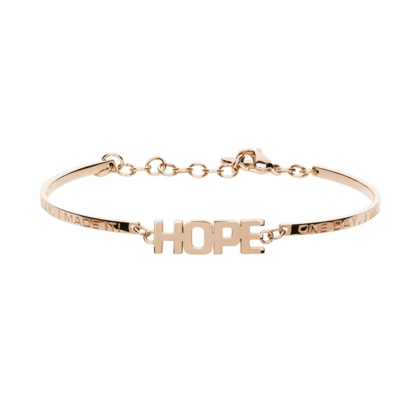 Woman bracelet with engraving BROSWAY CHAKRA HOPE in gold steel BHK241