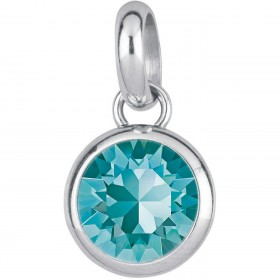 BROSWAY TRES JOLIE woman pendant in steel and turquoise crystal BTJM247