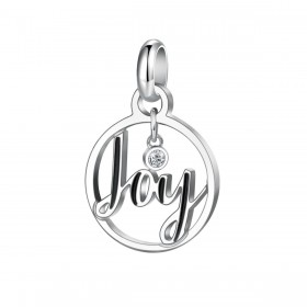 Pendant woman with Joy BROSWAY TRES JOLIE writing in steel and crystal BTJM272