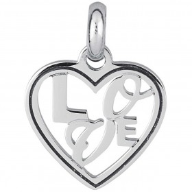 Women's pendant with Love BROSWAY TRES JOLIE lettering in BTJM275 steel