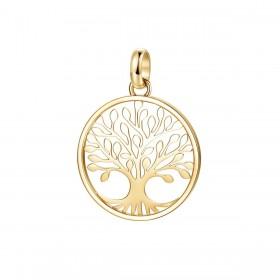 Pendente donna albero della vita BROSWAY TRES JOLIE in acciaio e pvd oro BTJM291