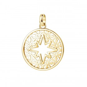 Pendant woman star BROSWAY TRES JOLIE in steel pvd gold BTJM297
