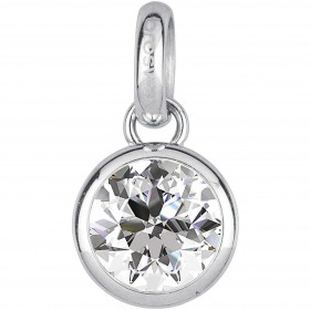 BROSWAY TRES JOLIE woman pendant in steel and white crystal BTJM246