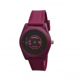 Orologio da polso unisex SMARTY VINILE in silicone fucsia SW045A05